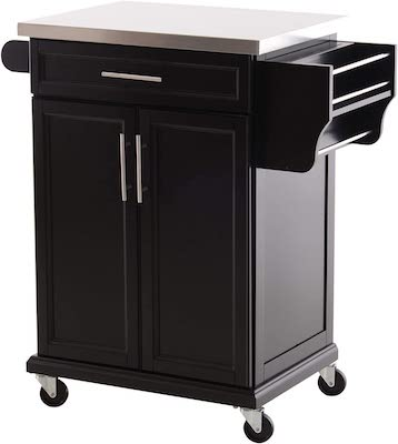 Storage Rolling Kitchen Island Utility Cart with Wheels