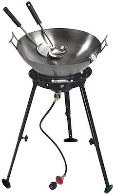Eastman Outdoors Gourme Carbon Steel Wok Burner Kit