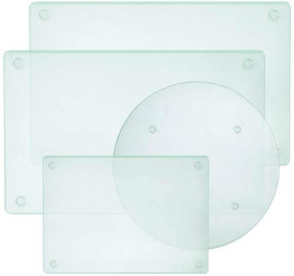 Tempered Glass Cutting Board Set of 4, Non Slip