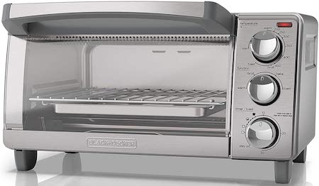 BLACK+DECKER 4-Slice Toaster Oven with Natural Convection, Stainless Steel