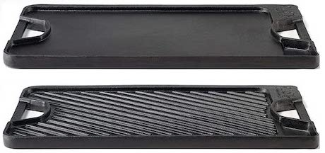 Calphalon 1873980 Pre-Seasoned Cast Iron Grill:Griddle Combo