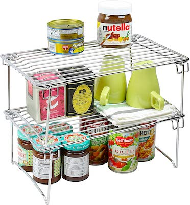 DecoBros Stackable Kitchen Cabinet Organizer