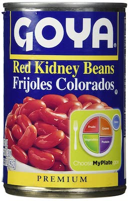 Goya Red Kidney Beans Habichuelas Coloradas Premium- 15.5 Oz Cans