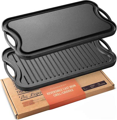 Legend Cast Iron Griddle for Gas Stovetop