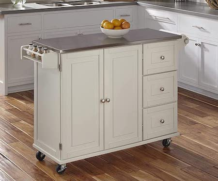 Liberty Off-White Kitchen Cart Island