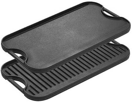 Lodge Pre-Seasoned Cast Iron Reversible Grill:Griddle With Handles