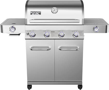 Monument Grills 24367 Stainless Steel 4 Burner Propane Gas Grill