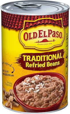 Old El Paso Traditional Refried Beans, 12 Cans