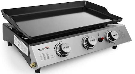 Royal Gourmet PD1300 Portable 3-Burner Propane Gas Grill Griddle