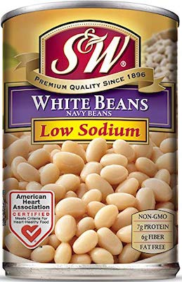 S & W Canned Low Sodium Navy Beans