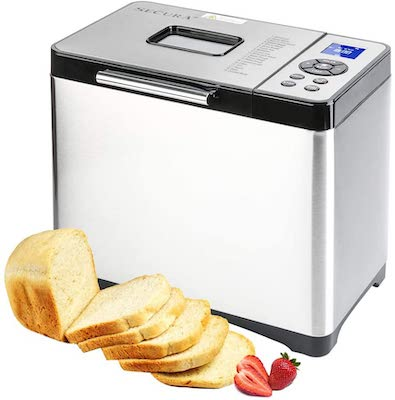 Secura Bread Maker Machine 2.2lb Stainless Steel Toaster