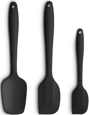 Silicone Spatula 3-piece Set, Ergonomic Handle High Heat-Resistant Spatulas