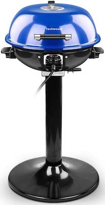 Techwood 15-Serving Electric Grill Indoor:Outdoor Electric BBQ Grill