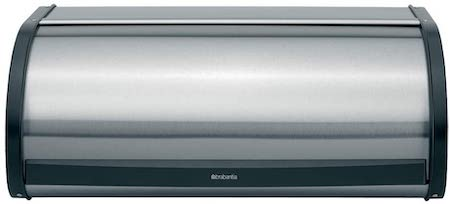 Brabantia Roll Top Bread Box, Matt Steel Fingerprint Proof Color - Large