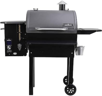 Camp Chef PG24MZG SmokePro Slide Smoker with Fold Down Front Shelf Wood Pellet Grill