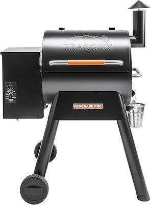 Traeger Grills TFB38TOD Renegade Pro Pellet Grill and Smoke 380 Sq. in. Cooking Capacity, Black:Orange