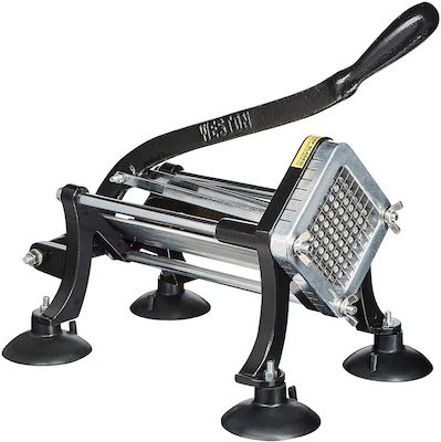 Weston Restaurant Quality French Fry Cutter , Cast Iron, Includes Suction Cup Feet,Charcoal